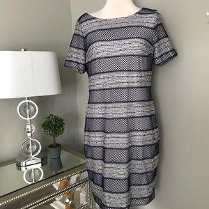 Anne Klein mesh sequin dress